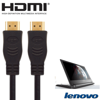 Lenovo G50, Z50, Flex 2 Laptop HDMI to HDMI TV 5m Long Fuse Gold Cord Wire Lead Cable