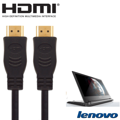 Lenovo Flex 2, 2D, U330, Y50 Laptop PC HDMI to HDMI TV 5m Long Fuse Gold Cord Wire Lead Cable