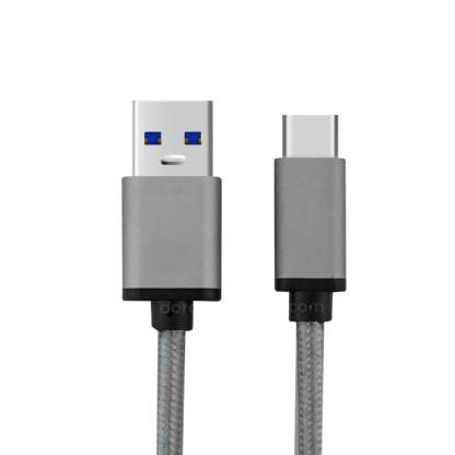 Lenovo ZUK Z1 Mobile Phone USB-C to USB-A 3.1 Charging Charge 'n Sync Data Laptop PC Grey (Gray) Lead Cable