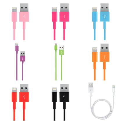 Lightning to USB Charger/Data Cord Lead Wire Cable for Apple iPhone 7, 6, 5, iPad & iPod
