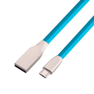 Microsoft Lumia 650, 640 XL, 535, 435 Micro-USB-B Charger & Data Sync Laptop PC Lead Wire Cord Cable - Blue