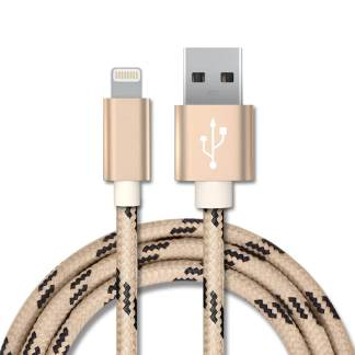 Bastec Lightning to USB Cable for Apple iPhone - Gold