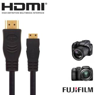 Fujifilm Finepix X20, S9200, X100S HDMI Mini TV 5m Long Gold Cord Wire Lead Cable