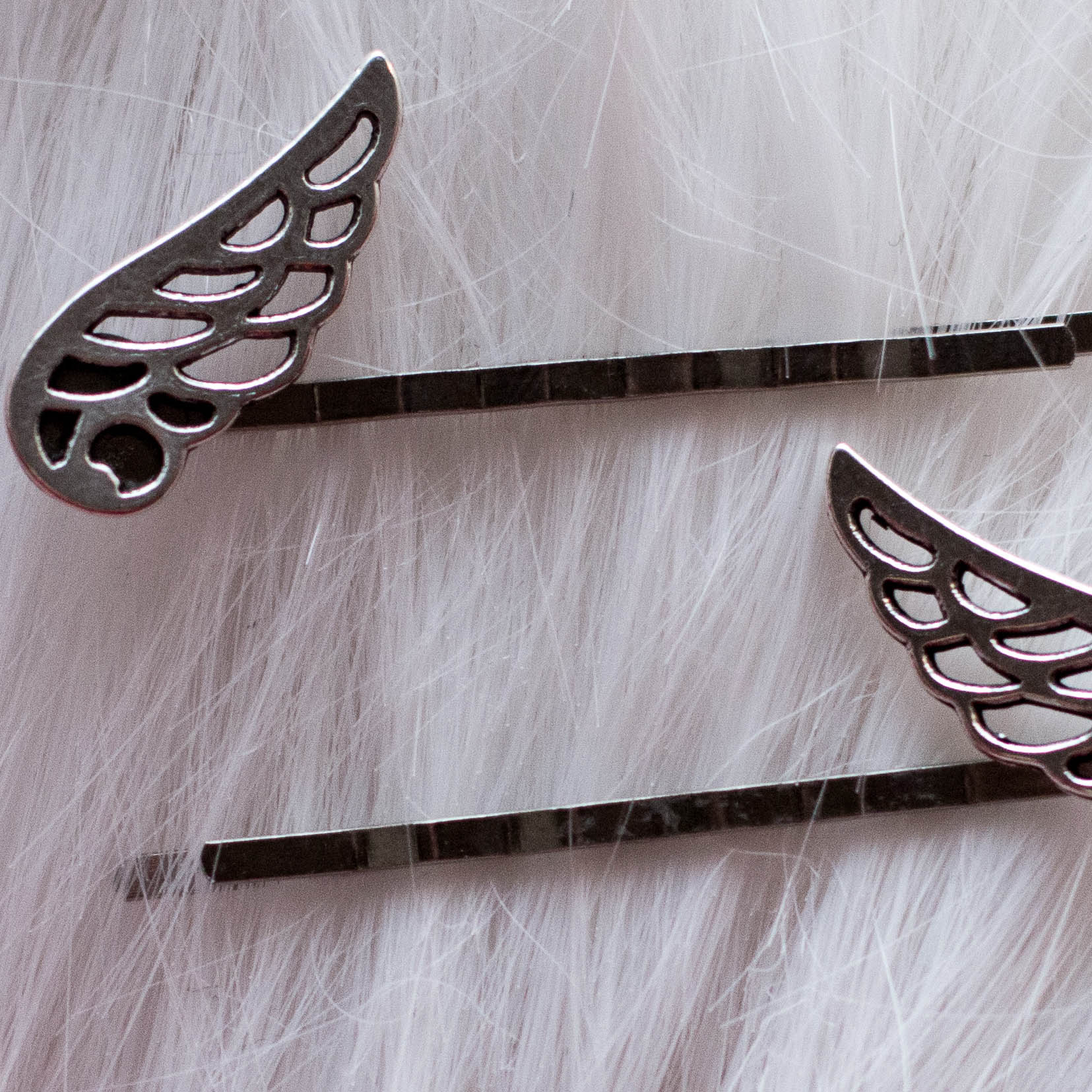 Winged Metal Hair Pins