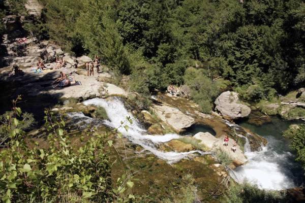 Zwemmen in de rivier de Vis in Cirque de Navacelles