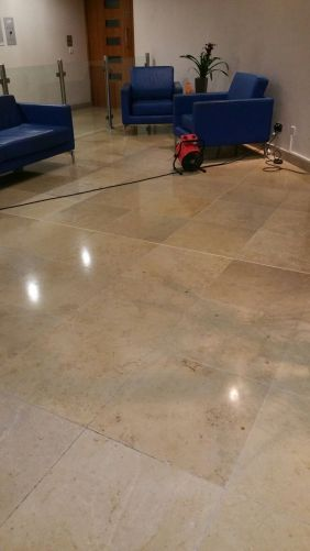 Travertine Tiled Floor After Polishing Nationwide Building Society Bournemouth
