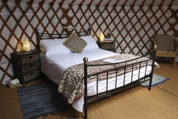 Luxury glamping beds at Caalm Camp