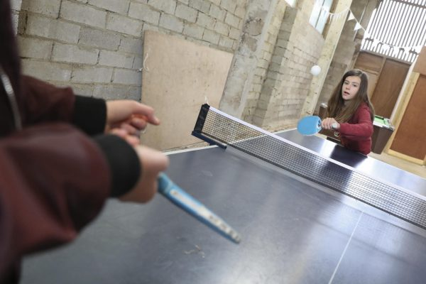 Playing Table Tennis at Caalm Camp