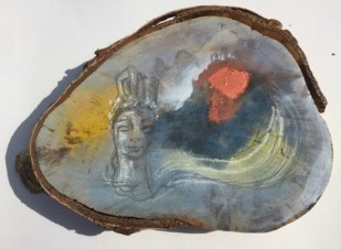 Ikon Dorthe Vedel traeskulptur