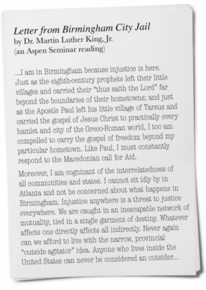 "The Living Legacy Of ""letter From Birmingham Jail""  The Aspen Institute"