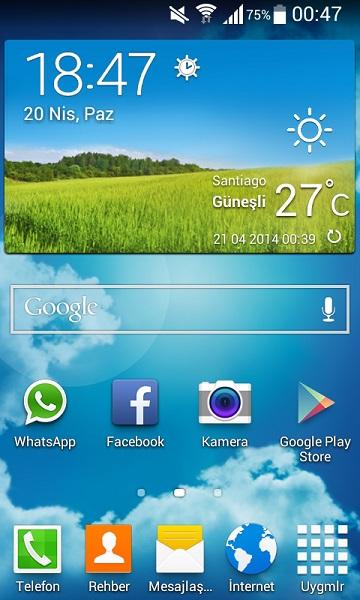 s5 weather widget