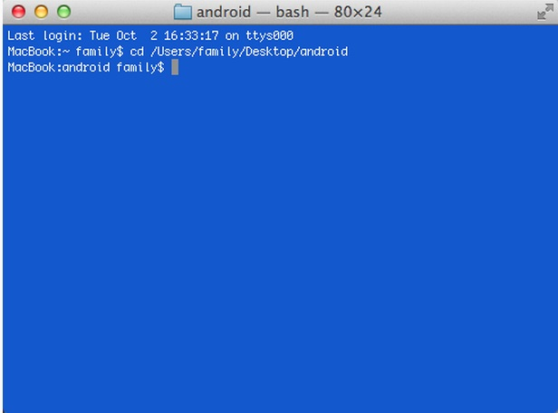 android sdk on mac 4