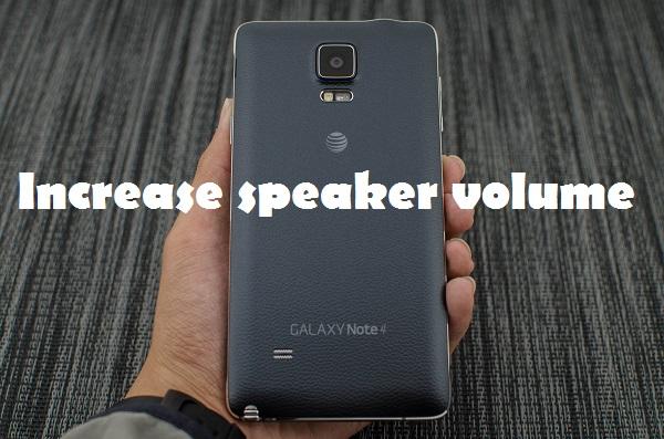 galaxy note 4 boost sound volume