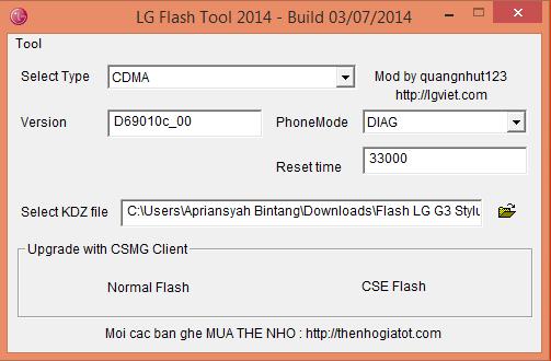 lg g3 firmware update stuck at 0