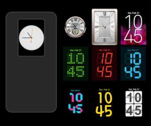 LG G2 watch faces widgets