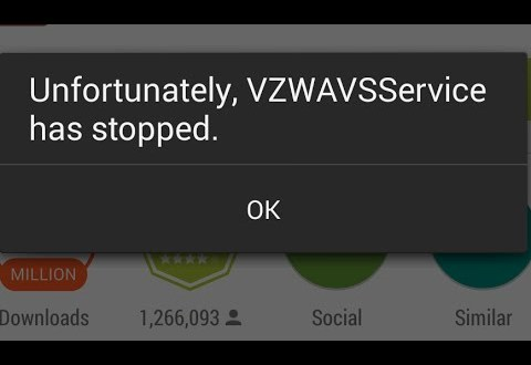 LG G3 Unfortunately VZWAVSService has stopped