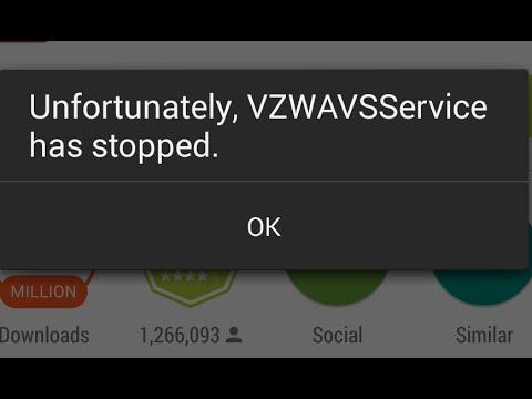 LG G3 Unfortunately VZWAVSService has stopped