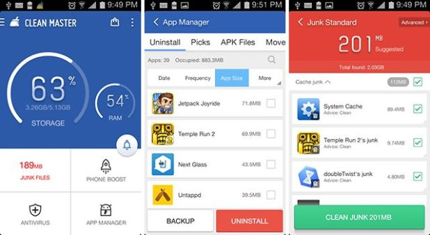 cleaner app for Android to boost performance