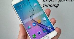 Galaxy S6 Screen Pinning