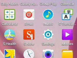 Galaxy S6 app icons ported to other devices