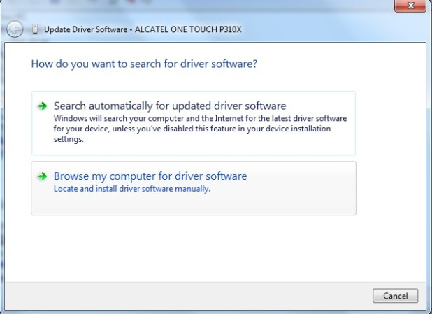 update phone driver from device manager