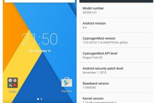 CM 13 Android 6.0 Marshmallow Huawei Ascend G620S