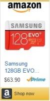 Samsung 128 GB EVO Plus SD Card