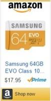 Samsung 64 GB EVO SDcard
