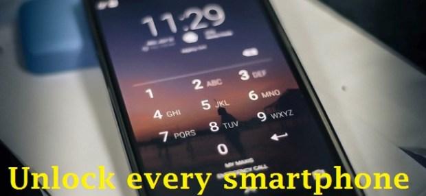 Unlcok every smartphone passwords, pin