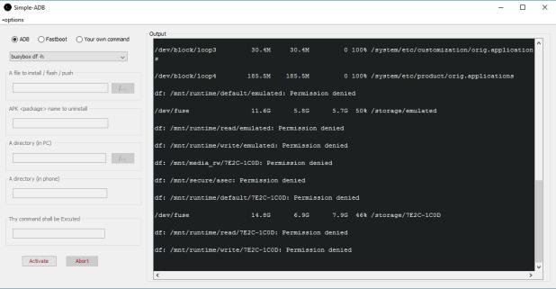 ADB graphical UI