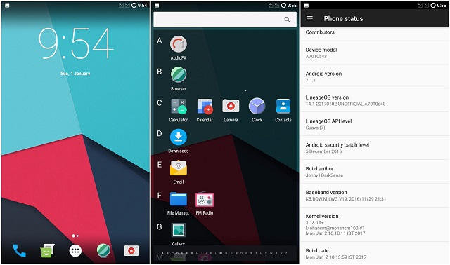 Lineage OS 14.1 Android 7.1 Nougat Lenovo K4 Note