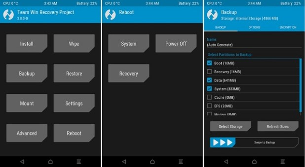 TWRP Recovery Galaxy device