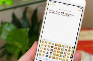 Predictive keyboard Emoji iPhone