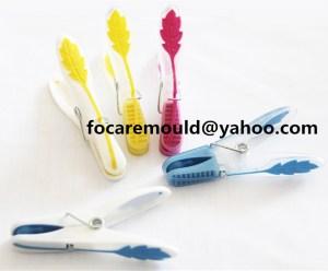 China molde de clip para el hogar dos colores inyeccion