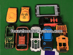 carcasa del telefono de dos colores