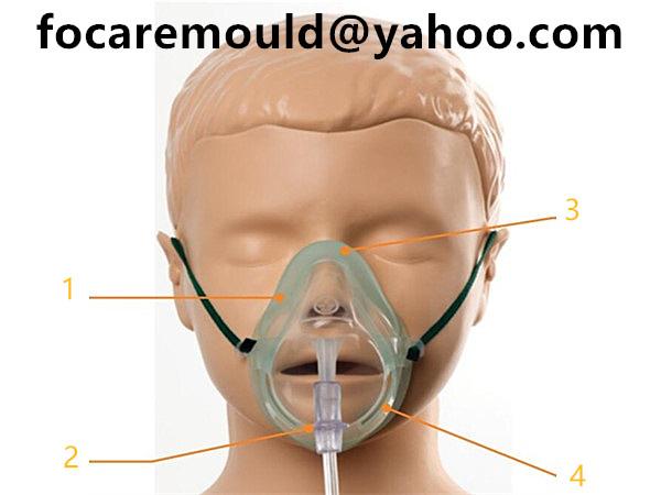 molde de mascara de oxigeno pediatrico de concentracion media 2k