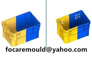 molde de cesta de plastico bicolores