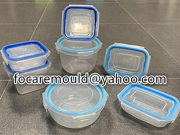 contenedor de almuerzo rectangular de dos colores