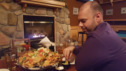 The best nachos in Saskatchewan at Walleye's Pub