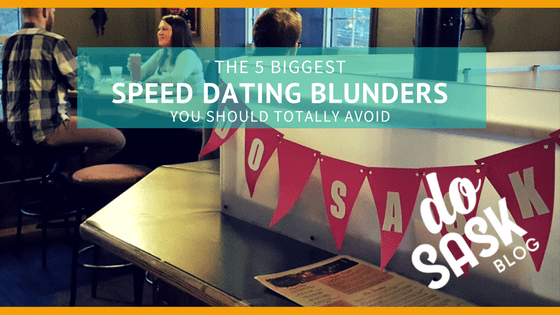Speed Dating Blunders can make or break your match potential. Note: no one pictured is guilty of that.