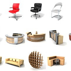 Office Chair 3d Model Desk Wheels Dosch Design Furniture Details The Product