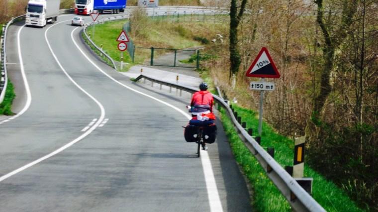 La carretera entre Lezo e Irún