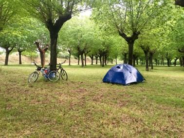 Día de lluvia en el camping de Senato