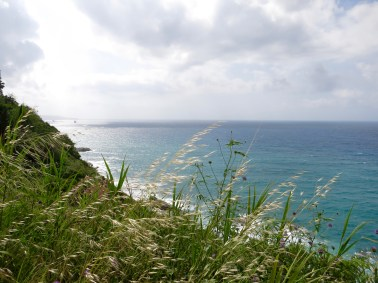 Vista del mar en el camino