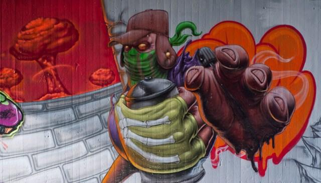 Graffiti an der Tannhäuserstraße