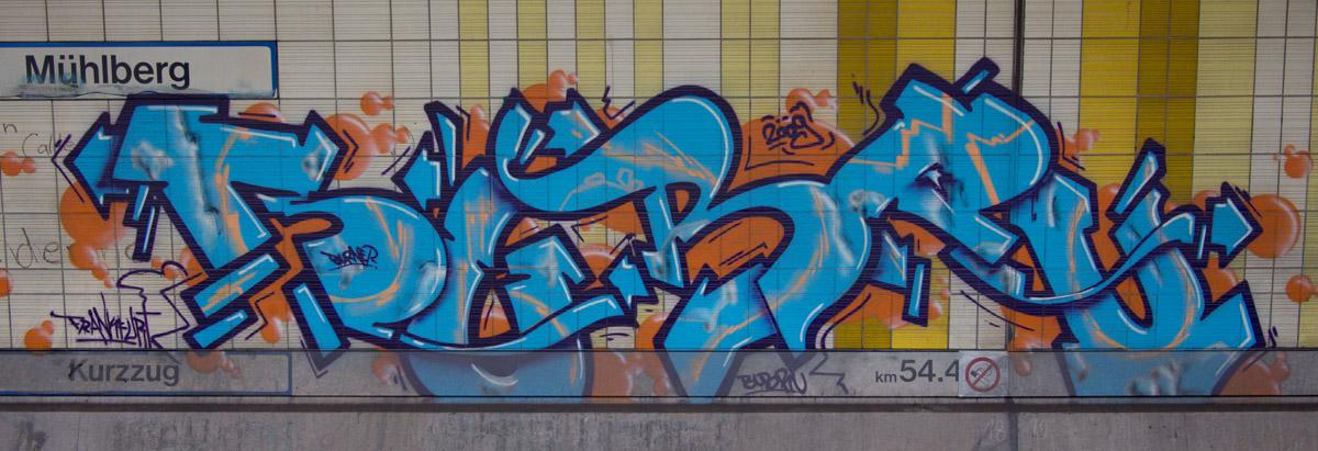 Frankfurt Mühlberg - Graffiti im Untergrund