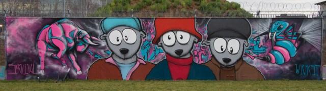 Graffiti Frankfurt Freiluftgalerie EZB