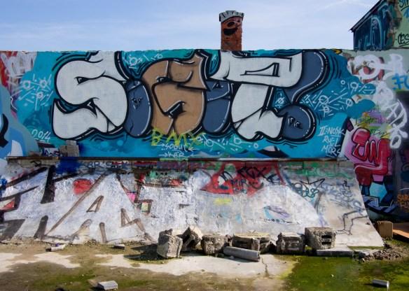 Frankfurt Gutleutviertel Graffiti