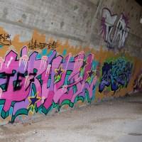 Offenbach - Graffiti unter der Kaiserleibrücke