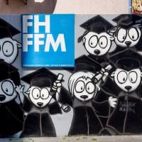 Graffiti Projekt auf dem Campus der (ehemaligen) FH Frankfurt
